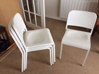4 x IKEA Stacking Chairs