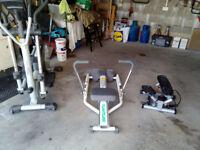 Three fitness machines.