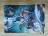 Avengers 3D Wall Poster
