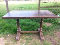 vintage chunky 2 leg table