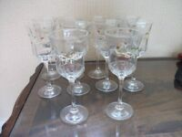 ETERNAL BEAU BOW WINE GLASSES 10 OF £2.50 EACH