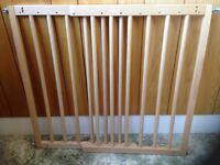 2 x wooden stair gates