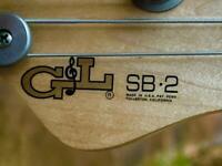 G&L SB-2 Bass Guitar USA 1996 with OHSC