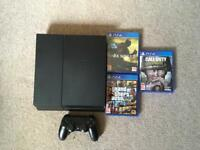 PS4 + 1 controller, COD WW2 +2