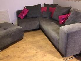 DFS corner sofa & footstool