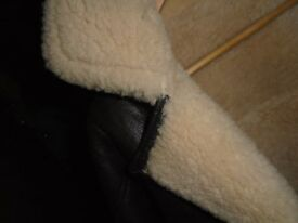 Genuine Leather, Sheepskin lined, Pilots Jacket