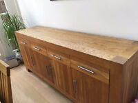 solid oak sideboard buffet