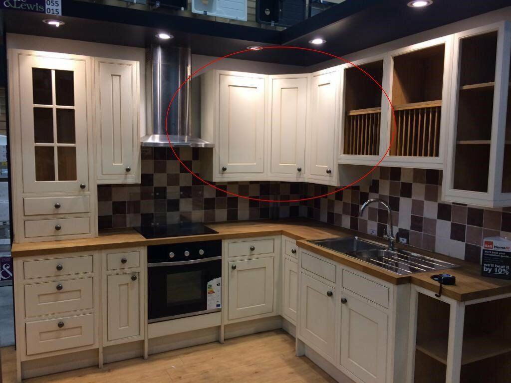 Ex display Cooke and Lewis Woburn kitchen units for sale price