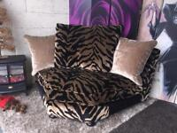 New Velvet Effect Fabric Corner Chaise Sectional Sofa/Chair