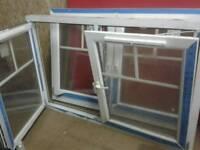 2 X DOUBLE GLAZED UPVC WINDOWS INWARD OPENINGS