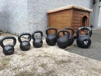 Set of Cast Iron Kettlebells