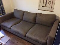 URGENT Large 3 Seater Feather Sofa