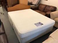 King size divan bed and mattress optional free head board