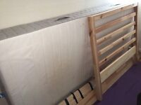 Ikea Tarva single bed including mattress for sale