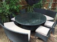 Rattan effect 10 Seat Round Furniture Set