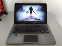 """GAMING TOSHIBA 14""""ULTRABOOK -QUAD CORE i5-8GB- SSD-WIN10 - BACKLIT KEYBOARD-WARRANTY-DELIVERY-OFFICE"""