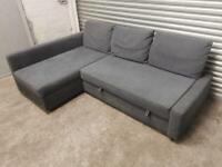 FREE DELIVERY IKEA FRIHETEN GREY CORNER SOFA BED WITH STORAGE EXCELLENT CONDITION