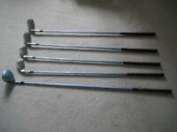Half Set Ladies or Junior Wilson Pro Staff Golf Clubs with Graphite Shafts.