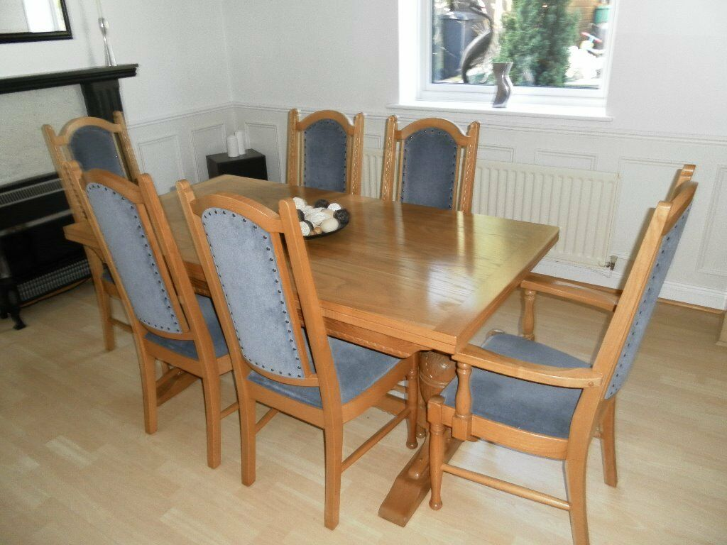 Parker knoll dining room table 6 chairs sideboard solid for Dining room tables on gumtree
