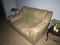 Camel leather sofa - cheap!!!