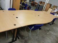 6 x Curved Office Desks