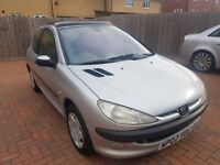 PEUGEOT 206 1.4 PETROL AUTOMATIC 11 MONTHS MOT JUST BEEN SERVICED ONLY 43000 miles GREAT CONDITION