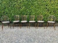 Ercol Vintage Dinning Table and 6 chairs