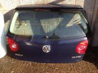 MK5 VW Golf rear tailgate blue colour