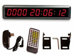 LARGE Wall Mounted Event Countdown Timer Digital LED Clock Remote Control Mount