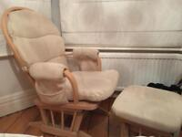 Dutailier Gliding Rocking Chair and matching stool