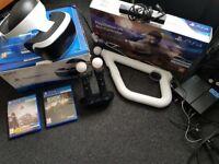 PlayStation VR / PSVR (full set up) + Games/Extras = £325 O.N.O