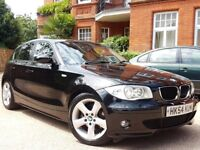 2005 BMW 120d SPORT MANUAL 6 SPEED INDIVIDUAL SPEC JET BLACK WITH BROWN LEATHER FACE LIFT MODEL