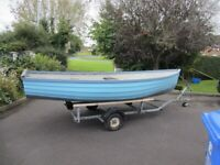 14 foot open boat and trailer