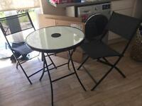 Outdoor light up table and chairs