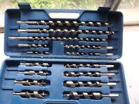 Set of 15 Auger woodbits