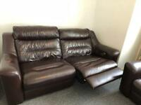 Leathers recliner chair a three seaters and double