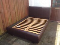 Leather double bed with matress