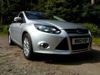 Ford FOCUS Titanium Ecoboost Petrol, Hatchback 2012 Manual 1.0L (124PS), Low tax, Low mileage