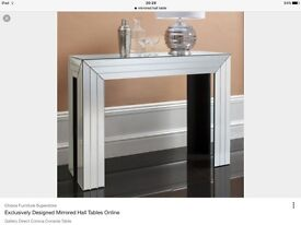 Mirrored hall table