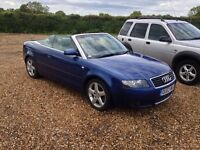 2003 Audi A4 Convertible 3.0 auto Px welcome