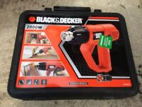 **BLACK AND DECKER**2000W HEAT GUN**WITH BOX AND ACCESSORIES**ONLY USED ONCE**NO OFFERS**