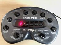 Line 6 - Bass Pod Multi effects, DI, Bass Amp model,Immaculate Condition -Bargain. Very light use