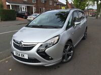 2012 (62) Vauxhall Zafira Tourer 1.4 Turbo Exclusiv 7 Seater only 34K FSH 12 Months MOT Must View