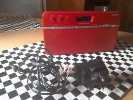 Bush stereo DAB & FM radio - red