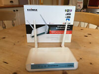 Edimax Wireless 802.11n Router. Almost new - only used for testing.