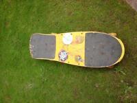 1980s 90s retro skateboard