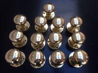 Brass door knobs door handles 6 sets