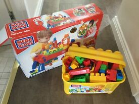Mega Blocks play table and bricks
