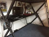 SOLD. Loft bed with desk