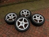 Alloy wheels and nearly new tyres